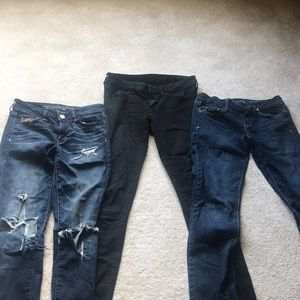 American Eagle Jeans, 3 pairs, Size 4-long